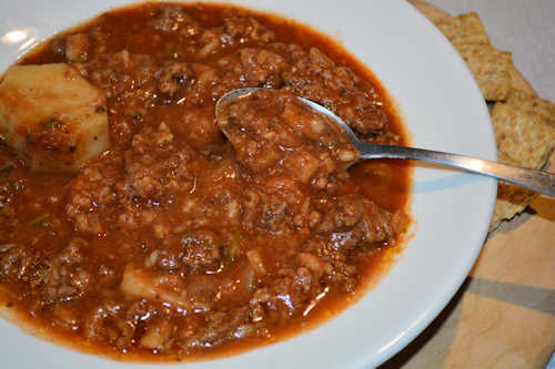 Ground Beef & Barley Vegetable Stew