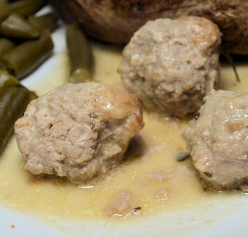 Turkey Meatballs in Lemon & Cilantro Sauce