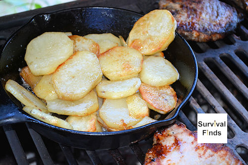 potatoes pan fried grill