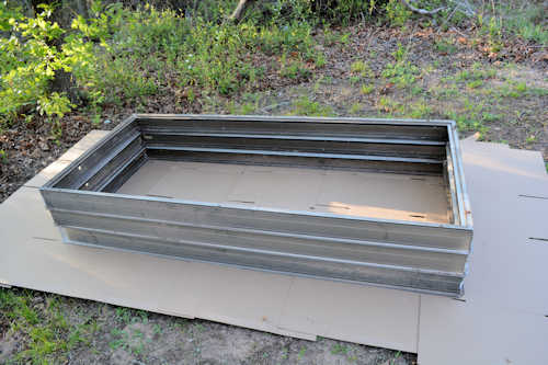 raised bed in progress