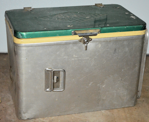 old metal ice chest