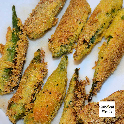 whole okra fried